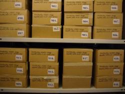 Szentkuthy Miklós naplói a Petőfi Irodalmi Múzeum Kézirattárának raktárában