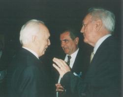 Mádl Ferenc köztársasági elnökkel, 2004 április