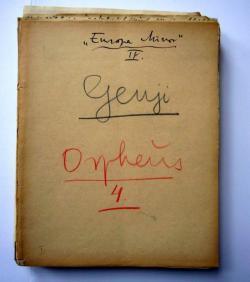 A Szent Orpheus Breviáriuma 4. kötete, az Europa minor kéziratos kezdőoldala, 1940–41