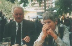 Feleségével, Dobos Évával Oslóban, 2004 május