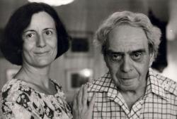 Zelk Zoltán második feleségével, Sinka Erzsébettel (fotó: Koncz Zsuzsa)