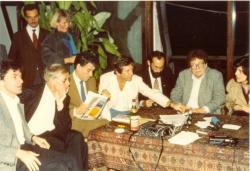 Alternatív kulturális fórum. Hans Magnus Enzensberger, Amos Oz, Tamás Gáspár Miklós, Susan Sontag (Budapest, 1985)