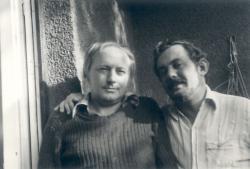 Ágh István és Bella István Zuglóban, 1980