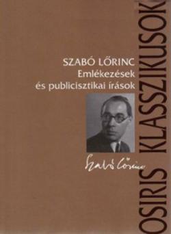 Emlékezések és publicisztikai írások (2003)