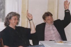 Esterházy Péter és Parti Nagy Lajos (DIA, 1998)