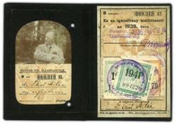 Füst Milán MÁV-igazolványa (1936)