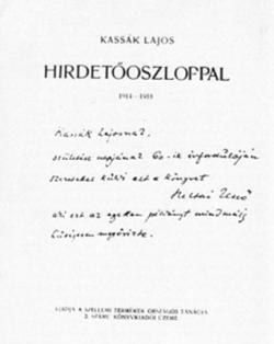 Hirdetőoszloppal (1919)