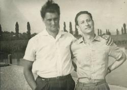 Lakatos István Rába Györggyel (Badacsony, 1962)