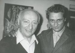 Vas István és Lakatos István (1982 szeptembere) (Fotó: Galambos Tamás)