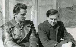 Lakatos István és Weöres Sándor (Visegrád - Magyar Írók Alapjának alkotóháza, 1956)