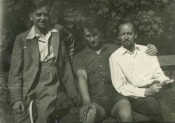 Weöres Sándor, Lakatos István és Mészöly Dezső (Szigliget, 1962 augusztusa)