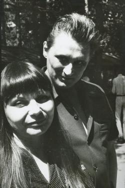 A békéscsabai könyvnapokon Kiss Annával (1982 nyara)