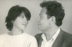 Lakner Judittal, feleségével (1979)