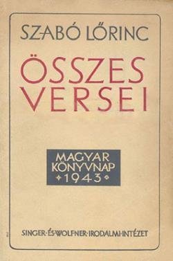 Szabó Lőrinc Összes versei (1943)