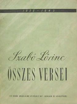 Szabó Lőrinc Összes versei (1944)