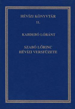 Szabó Lőrinc hévízi versfüzete (1997)