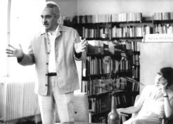 Író-olvasó találkozón a hatvani könyvtárban, 1979