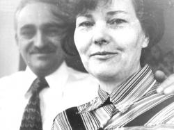 Feleségével 1985-ben
