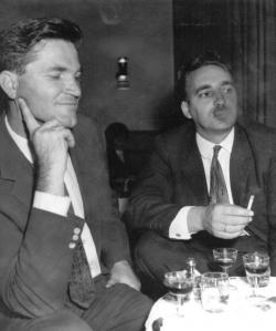 Czine Mihállyal a 60-as évek derekán