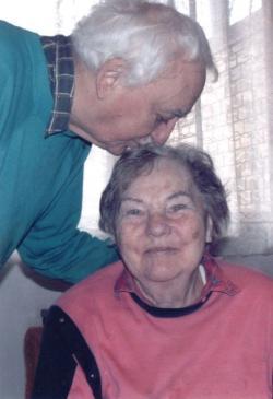 Feleségével 2005-ben