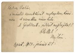 Füst Milán levele Gellért Oszkárnak (1934)