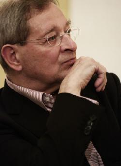 Nádas Péter fotókiállításának megnyitása a Petőfi Irodalmi Múzeumban (2012, PIM)