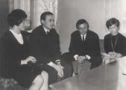 Esküvője Széles Judittal (1968), tanúik Bata Imre és Széles Klára