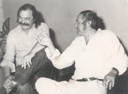 Lázár Ervin és Ágh István Szkopjéban, 1979