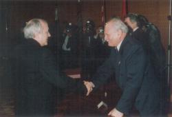 A Kossuth-díj átadása a Parlamentben, Göncz Árpád köztársasági elnökkel, 1992