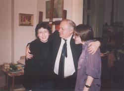 Lányaival, Zsófiával és Eszterrel a Kossuth-díj átadása után