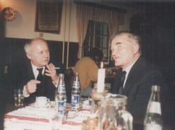 Ágh István és Czine Mihály a Dabróka Csárdában, 1995