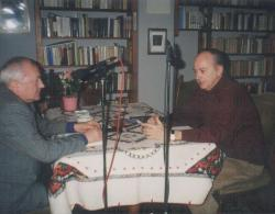 Beszélgetés a Rádió számára Domokos Mátyással, a lakásán (1998 február)