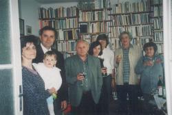 Nagy Gáspár 50. születésnapján Budakeszin, 1999. május 15. (Balczó Andrásékkal, Marsall Lászlóékkal)