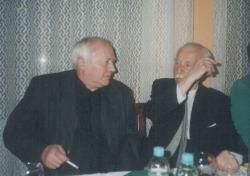 Ágh István és Takáts Gyula Kaposvárott, 2001. febr. 5. (fotó: Sebestyén Ilona)