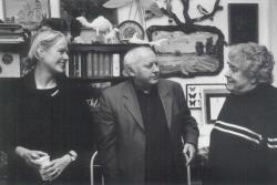 Kelecsényi Csilla textilművész, Ágh István és Gyulai Líviusz, 2003. dec. 31.