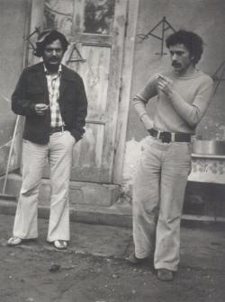 Sógorával, Banos Jánossal Rákoskeresztúron (1976)