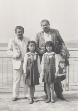 Bella István és Lázár Ervin az Afro-Ázsiai Írók Találkozóján, Szöul, 1988