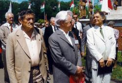 Dobos László, Fekete Gyula, Sütő András és Csoóri Sándor (1996)