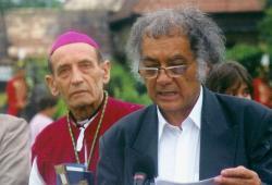 Tempfli József nagyváradi püspök és Csoóri Sándor