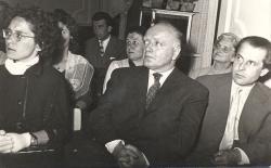 1960. március 18. Stetka Éva, Martyn Ferenc és Csorba Győző Stetka Éva és Bertha Bulcsu szerzői estjén.