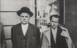 1962. Veres Péter és Csorba Győző Pécsett.