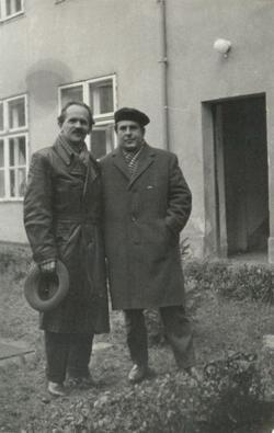 1965. október 27. Jobbágy Károly és Csorba Győző.