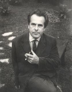 1965. A Baranya Megyei könyvtár kertjében.