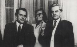 1970. Csorba Győző, Károlyi Amy és Weöres Sándor Pécsett.