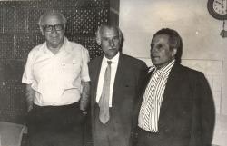 1976. május 11. Kanyar József, Takáts Gyula és Csorba Győző Kaposvárott.