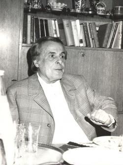 1978. október 7. Egy vidám pillanat Damjanich utcai házának nappalijában. (Nádor Katalin felvétele.)