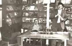 1978. május 27. Lipták Pál, Csorba Győző és Fekete Gyula Békéscsabán.