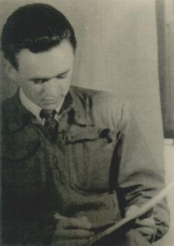 A fiatal költő Tarhoson (Rácz István fotója)