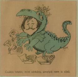 Sajdik Ferenc karikatúrája Csukásról