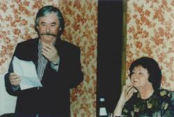 Feleségével, Porga Máriával